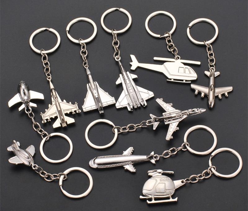 100pcs/50pcs/Lot Metal Plane Keychain Mini Plane Key Chain Aircraft Model Keyring Airplane Key Chain For Car Bags Gifts