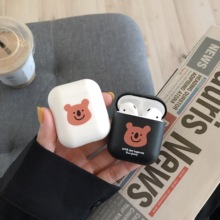Fashion Cute bear Couples Case For Airpods Hot Sale silicone Wireless Earphone Cover AirPods Accessories