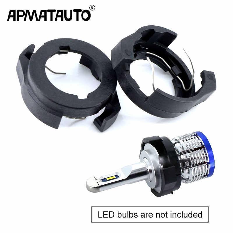 Car LED H7 Headlight Adapter Bulb Holders Auto Lamp Light Clip LED Base for Ford KUGA VW Passat B6 for Alfa Romeo Renault Megane