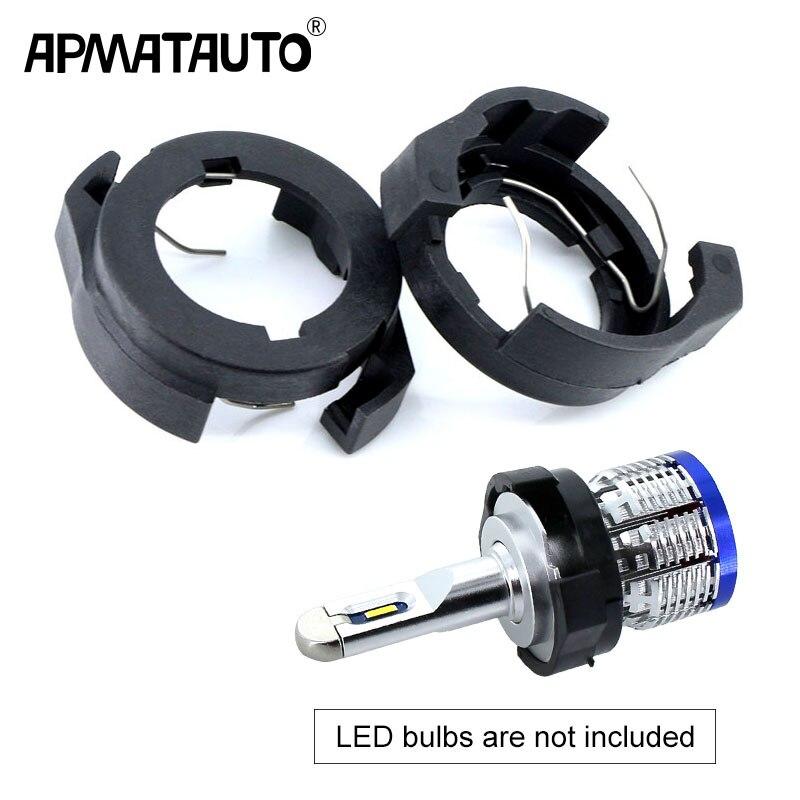 Car LED H7 Headlight Adapter Bulb Holders Auto Lamp Light Clip LED Base For Ford KUGA VW Passat B6 For Alfa Romeo Renault Megane