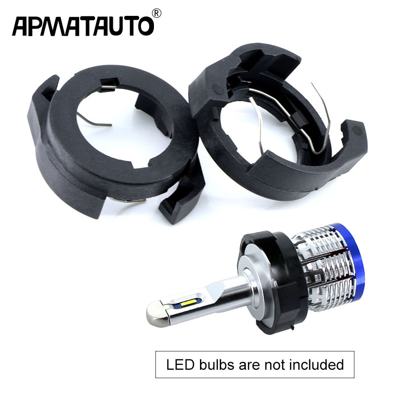 Car <font><b>LED</b></font> H7 Headlight Adapter Bulb Holders Auto <font><b>Lamp</b></font> Light Clip <font><b>LED</b></font> Base for Ford KUGA VW Passat B6 for Alfa Romeo <font><b>Renault</b></font> Megane image