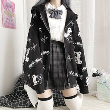 Japanese Gothic Coat Women Fashion Autumn Plus Velvet Warm Winter Clothes ins Preppy Hoodies kawaii Long Sleeve Hoodie jacket