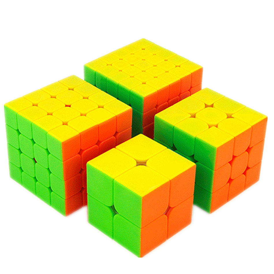 MOYU 4 Pieces Cube Set 2x2x2 3x3x3 4x4x4 5x5x5 Magic Cube 4pieces Set Cubes For Children Gift Toy Puzzle Cube Toy