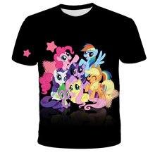 Animated My Little Pony Boys Girls T-shirts Baby Summer Print Short Sleeve Children's Cartoon Top t shirt Girls Unicorn Clothing