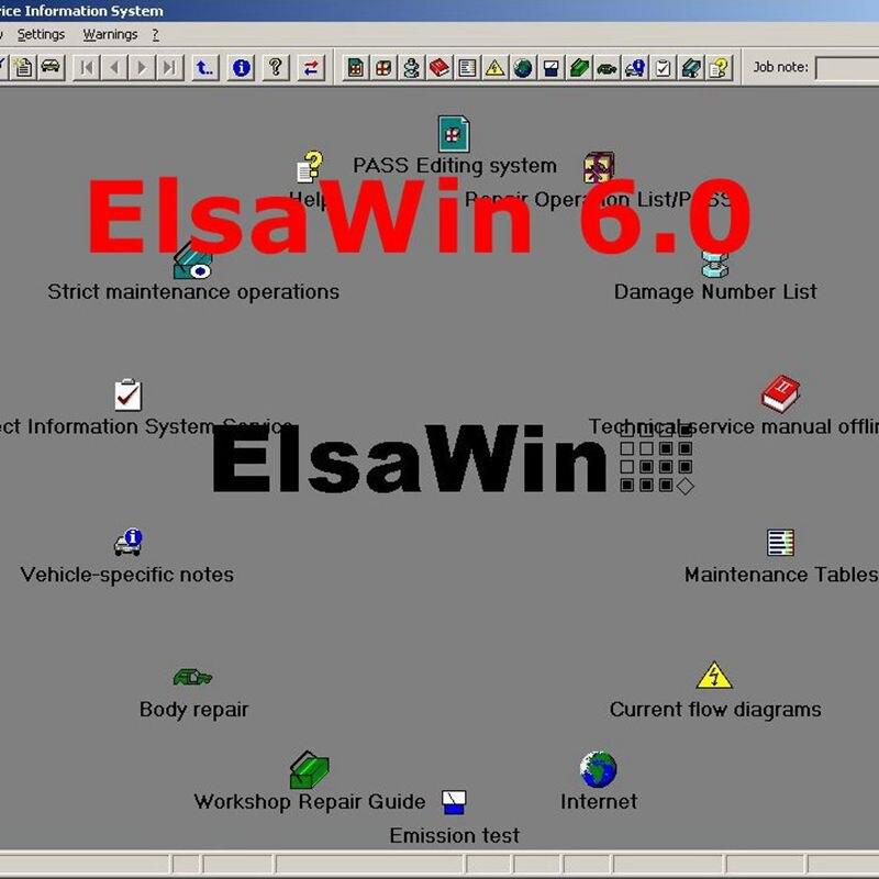 2020 de alta qualidade elsawin 6.0 para a-udi para v-w software de reparação de automóveis elsa win v6.0 enviar 80gb hdd ou download ligação reparo do carro