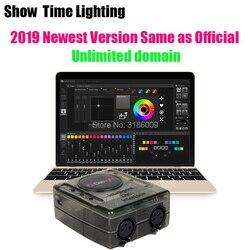 2019 mais recente versão dasslight dvc4 dmx software controlador de luz fase movendo a cabeça console luz palco dj interface iluminação usb