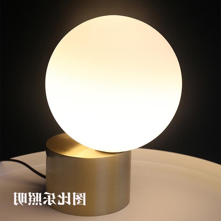 Modern Led Glass Ball Table Lamp Night Lighting Living Room Bed Head Simple Post Nordic Metal Glass Ball Table Lamp Lustre