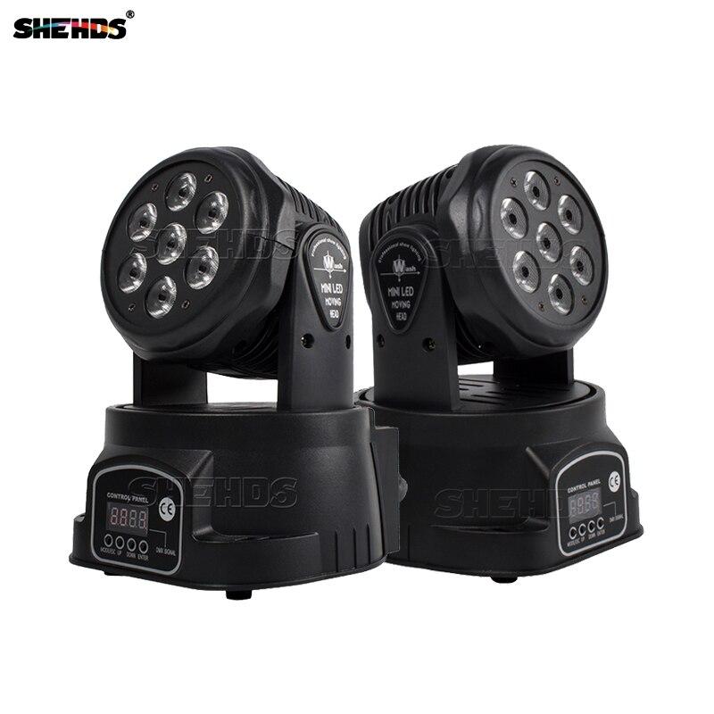 Светодиодный 7x1 2W/18W RGBW сценический светильник с движущейся головкой передовые диджей светодиодный мыть мини 14 Каналы Quad с передовой
