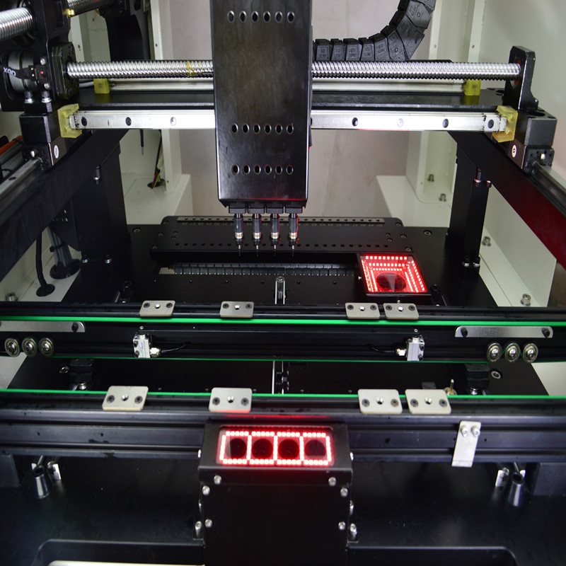 Tools : 50 Feeders Chip Mounting Machine Pick and Place SMT SMD Soldering Machine with 4Heads and Servo motor