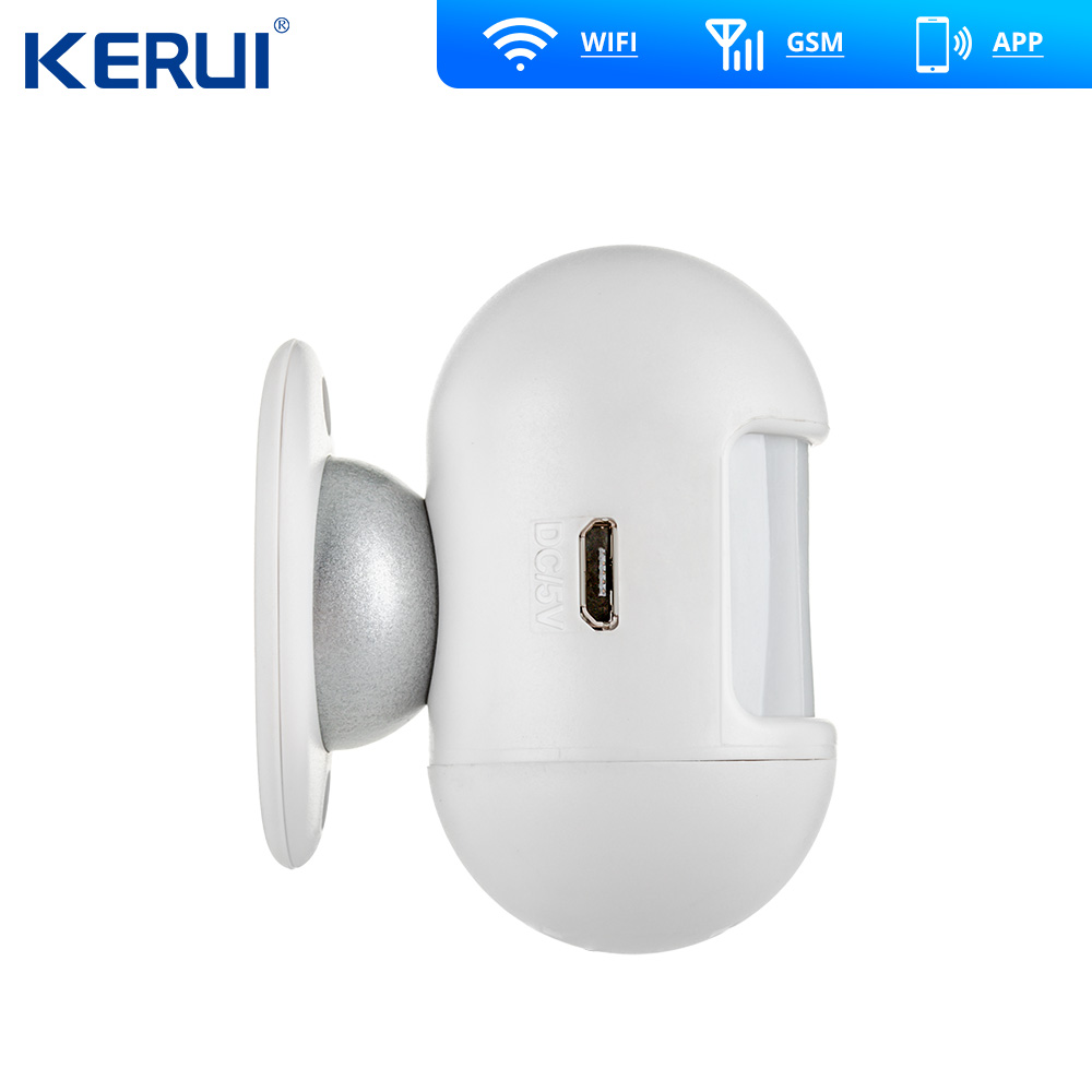 KERUI W20  GSM Wifi Alarm 2.4 inch Touch Panel WiFi GSM Security Burglar Alarm System APP RFID Mini Movable PIR Sensor Siren 1