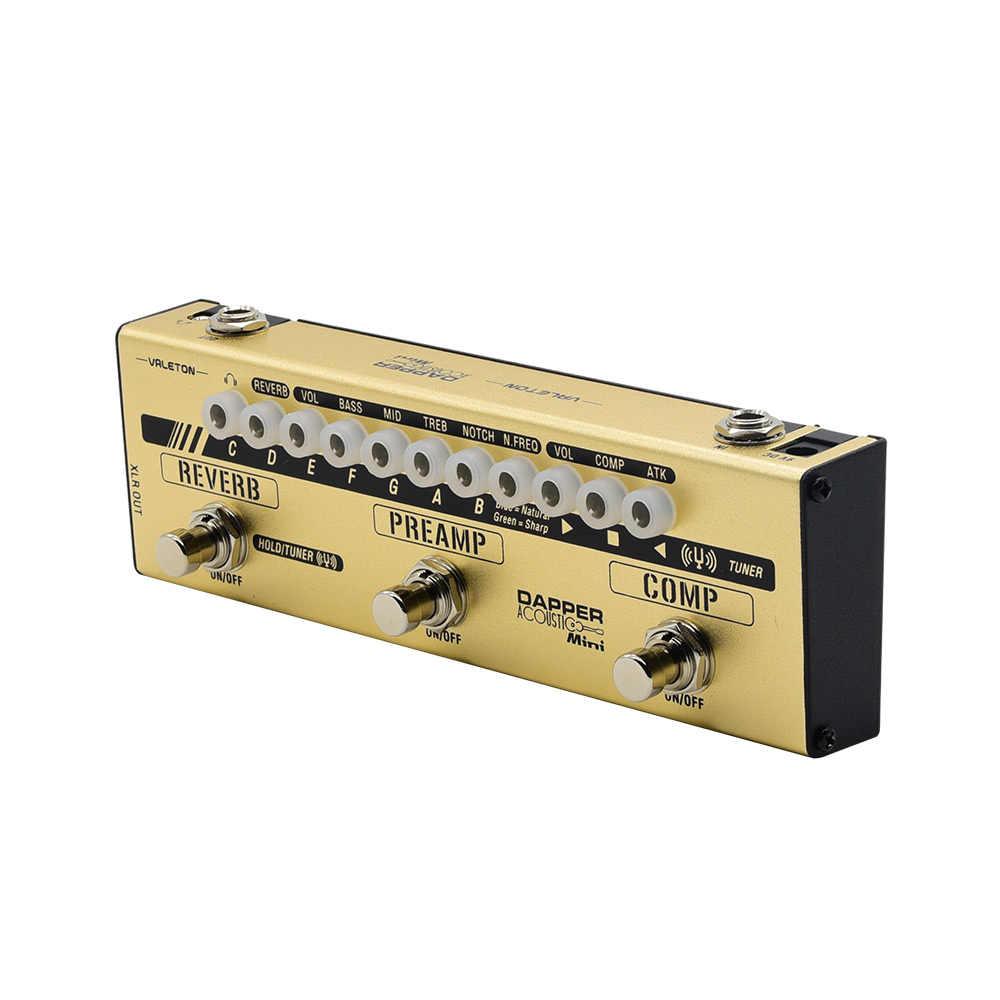 Valeton Dapper الصوتية المؤثرات المصغرة قطاع موالف Comp Preamp كاشفة Sim وحدة الغيتار دواسة للاعبين الصوتية MES-4