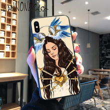 Lana Del Rey Funny Fashionable Black Soft Shell Phone Cover For iPhone 8 7 6 6S Plus X XS MAX 5 5S SE XR 11 11pro promax Coque lana del rey funny fashionable black soft shell phone cover for iphone 8 7 6 6s plus x xs max 5 5s se xr 11 11pro promax coque