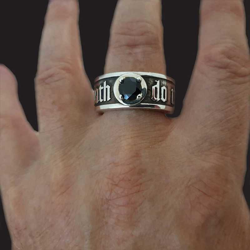 Gothic CoolDeath pierścień czaszka unikalne mężczyźni pierścienie Punk głowy szkielet Rock Biker czeski biżuteria akcesoria