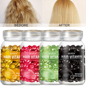 купить Hair Vitamin Keratin Complex Oil Hair Care Silky Hair Mask Repair Damaged Hair Capsule Serum Hair Repair Treatment Moroccan Oil в интернет-магазине