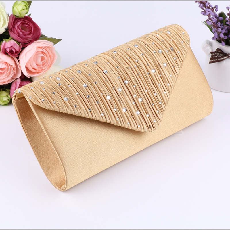 Women Shimmer Satin Evening Party Clutch Wedding Prom Purse Bridal Crossbody Bag Clutch Bag Bridal Handbag Evening Prom Purse