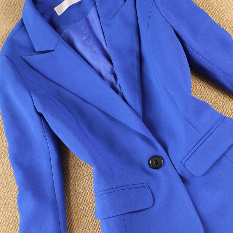 Nieuwe Vrouwen Kleding Mode Pak Vrouwelijke Carrière Jasje Lange Stukken Temperament Casual Twee-stuk Broek Vrouwen Set Broek set