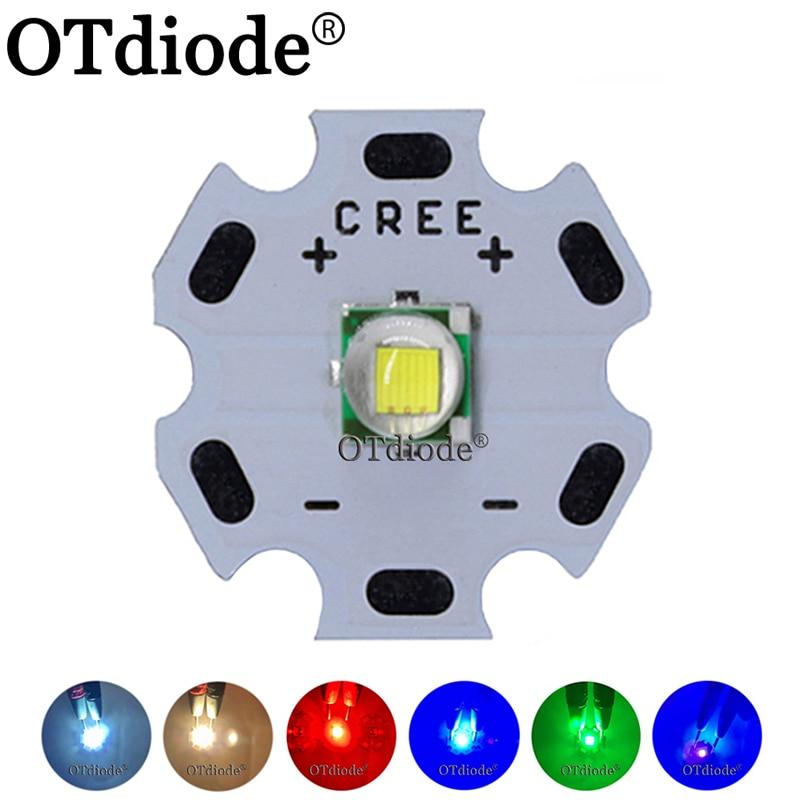 1PCS CREE XML XM-L T6 LED U2 10W Koud Wit Warm Wit Blauw Rood Groen UV LED Emitter diode met 12mm 14mm 16mm 20mm PCB voor DIY