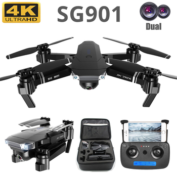 New Foldable Drone Wide Angle 4K/1080P HD Dual Camera Optical WiFi Follow Me RC Drone FPV Professional Long Battery Aircraft 1