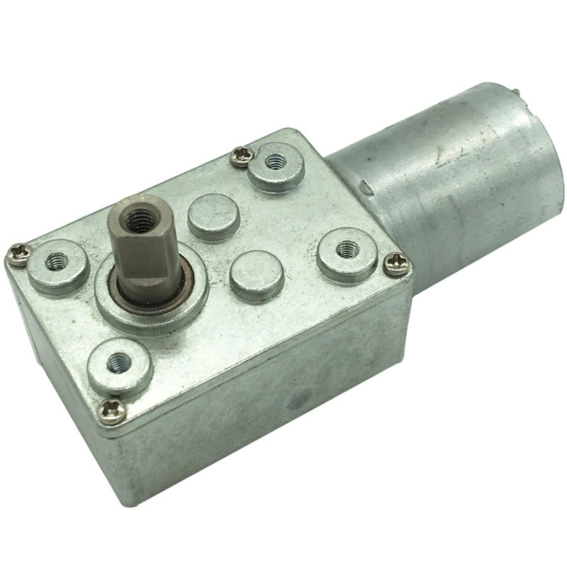 6V 12V 24V <font><b>DC</b></font> Worm Gear <font><b>Motor</b></font> High Torque 10KG Low Speed 1RPM Or 2RPM Reversible Electric <font><b>Motors</b></font> With Self-Lock For Smart Device image
