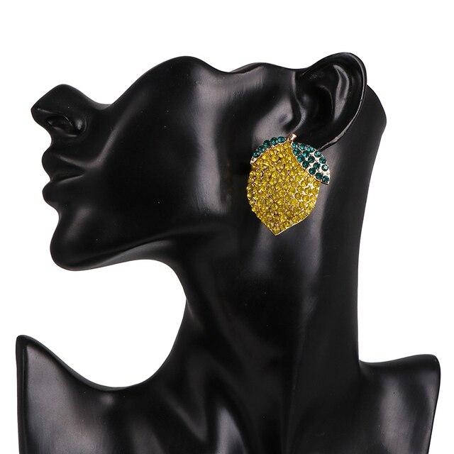 JUJIA exagerada diseño lindo pendientes de cristal de diamantes de imitación para mujer joyería de boda elegante Oorbellen
