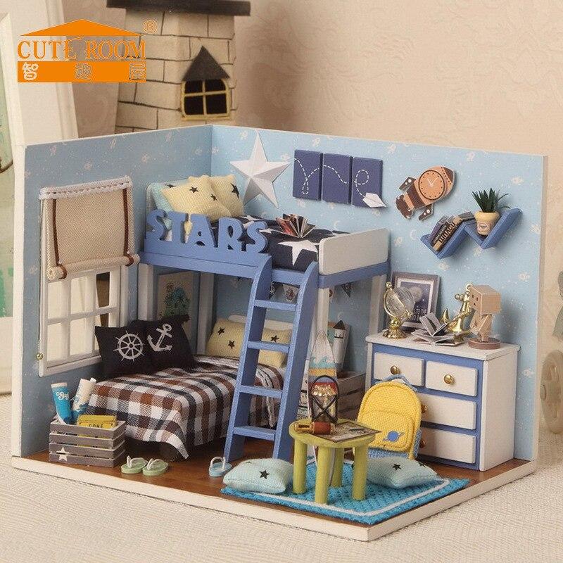 DIY Hut House Room Handmade Villa Princess Model Toy Assembly Creative Made In China Wood Send Women's
