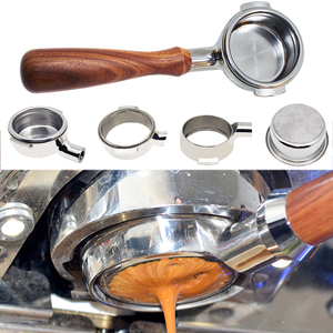 Image 5 - 51/58mm de aço inoxidável máquina de café sem fundo filtro titular portafilter ramo lidar com acessório profissional fatacado