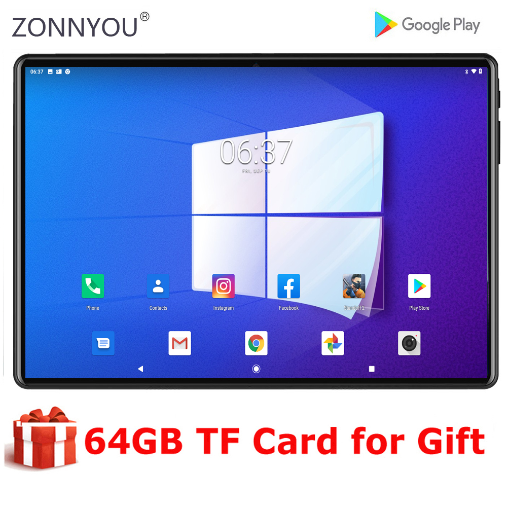 2020 Global Version 10 inch tablet 4+64GB Memory 4G LTE Tablets Dual SIM Card Wifi Android 9.0 tablet 10.1+ 64GB TF Card Tablets  – AliExpress