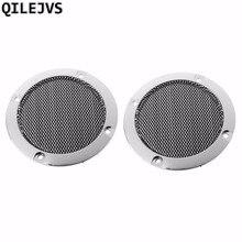 QILEJVS 2 Pcs 3 inch Black Audio Speaker Cover Decorative Circle Metal Mesh Grille