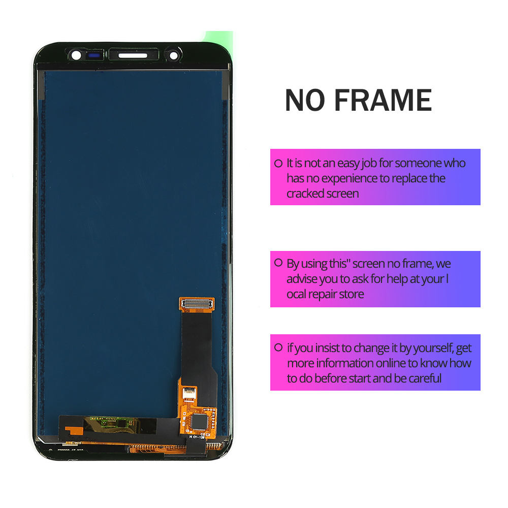 5 6 inch For Samsung Galaxy J6 2018 J600 J600F J600Y LCD screen Display and touch 5.6 inch For Samsung Galaxy J6 2018 J600 J600F J600Y LCD screen Display and touch Glass pannel Assembly Can adjust brightness