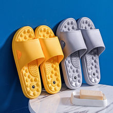Summer home slippers for men Bathroom slippers indoor antiskid thick soled Hotel Club bath massage sandals