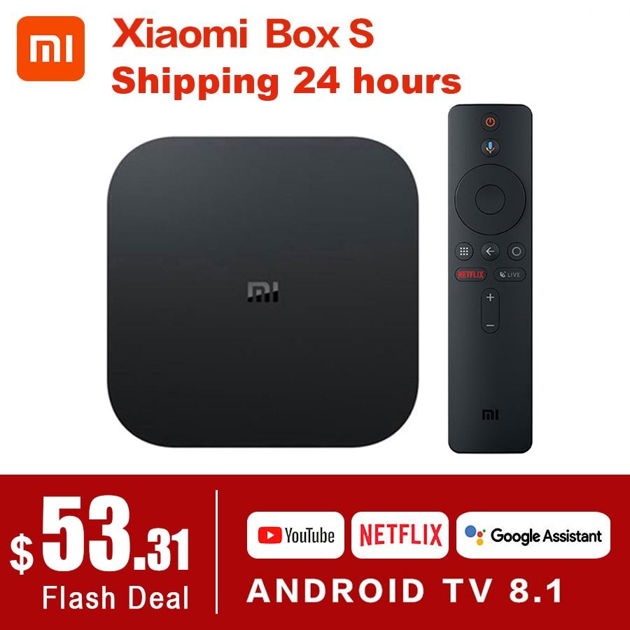 Original Global Xiaomi Mi TV Box S 4K HDR Android TV 8.1 Ultra HD 2G 8G WIFI Google Cast Netflix Set top Mi Box 4 Media Player|Set-top Boxes|   - AliExpress