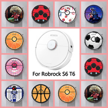 Provide Customized Custom Vinyl Cute Sticker for xiaomi Roborock S6 T6 Robot Robotic Vacuum Cleaner Skin Spare Parts Accessories