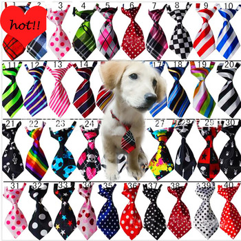 100pcs/Lot Pet Dog Bow Ties Mix 40 Colors Handmade Adjustable Pet Dog Ties Pet Bow Ties Cat Neckties Dog Grooming Supplies