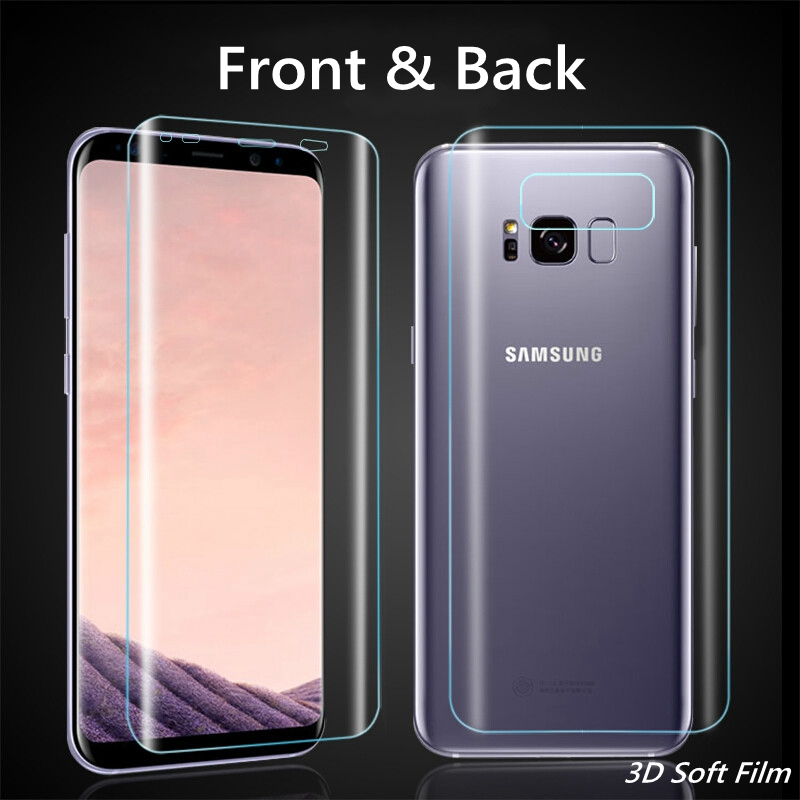 3D Curved Back Front Soft Film For samsung Galaxy S8plus S7 S6 Edge S8 S10 Plus + E Screen Protector Sansung S9 S8 Plus Note 8 9 image
