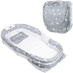 Lindo nuevo colchón práctico cama de bebé todo envuelto en las camas portátil plegable multifunción con música luz de noche Anti-P