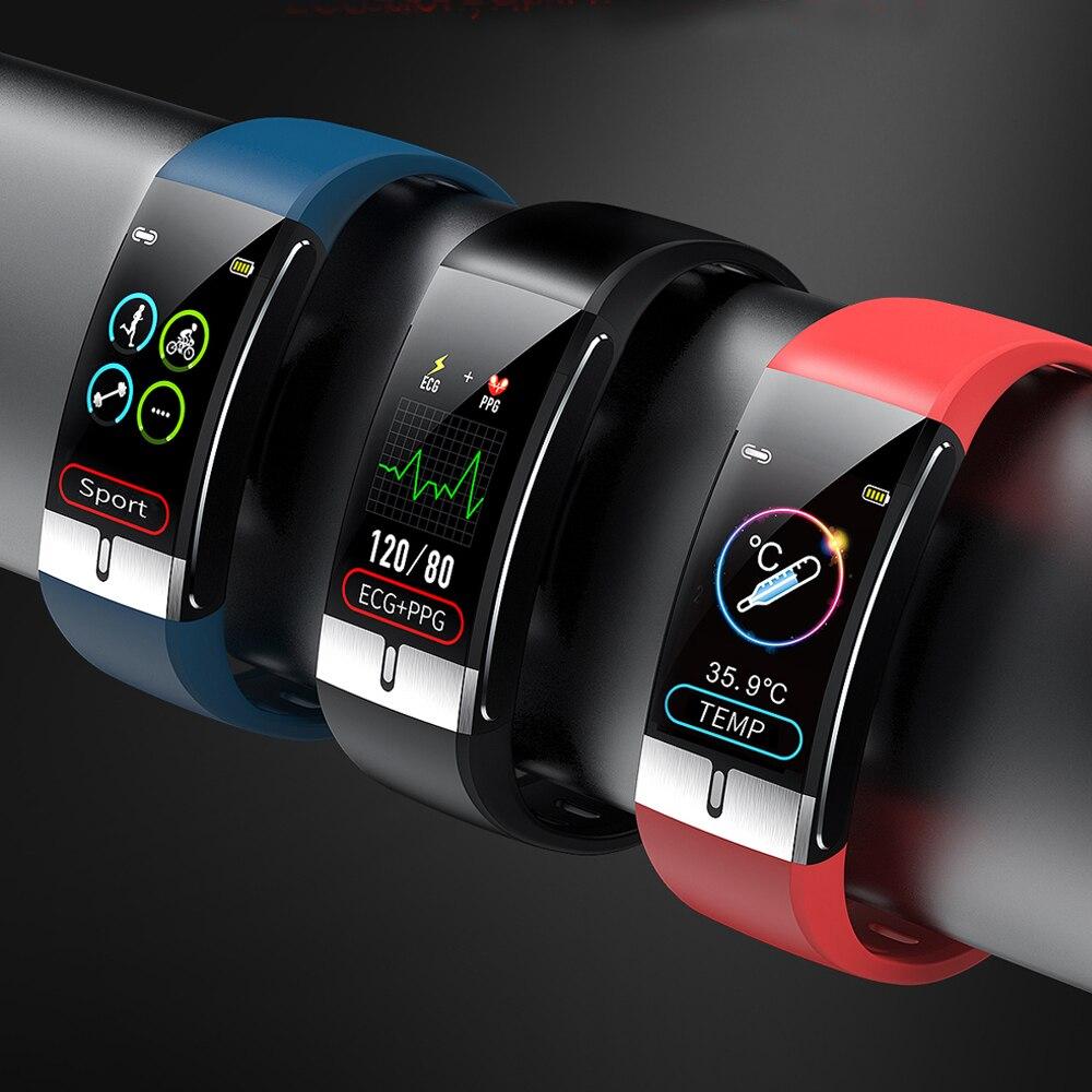 Смарт-браслет для мужчин, измеритель температуры тела, ЭКГ, ППГ, пульсометр, AI запись, водонепроницаемый фитнес-трекер IP68, браслеты