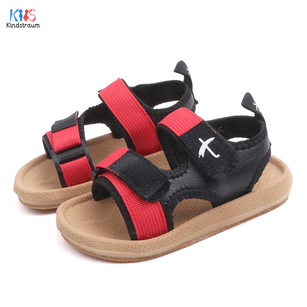 Summer Children Sandals for Boys Flat Beach Shoes Kids Sports Casual Student Leather Sandals Soft Non-slip Fashion Wild DC244