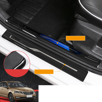 Lsrtw2017 Car Door Sill Strip Threshold Trims for Skoda Octavia a7 2015 2016 2017 2018 2019 2020 Interior Accessories Mouldings