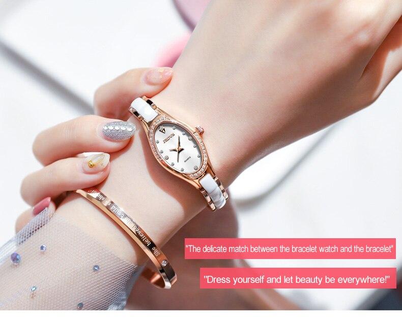 moda simples quartzo mão relógio à prova
