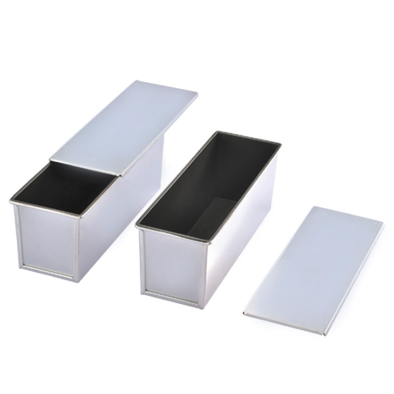 250g/450g/600g/750g/900g/1000g Aluminum alloy black non-stick coating Toast boxes Bread Loaf Pan cake mold baking tool with lid