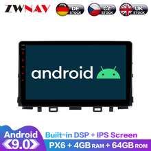 Android 9.0 4+64G PX6 DSP Carplay Radio Car No DVD Player GPS navigation For Kia RIO 2017-2018 Head Unit Multimedia