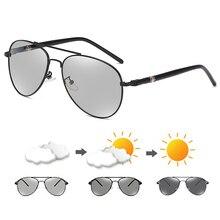 Photochromic Polarized Sunglasses for Men Women Pilot Driving Eyewear Vintage Outdoor