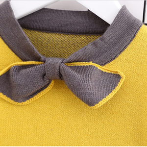 Image 5 - HE Hello Enjoy Winter Autumn Toddler Girls Clothes Sets Boutique Kids Clothing Warm Knit Pullover Sweater+Pleated Skirt Suits