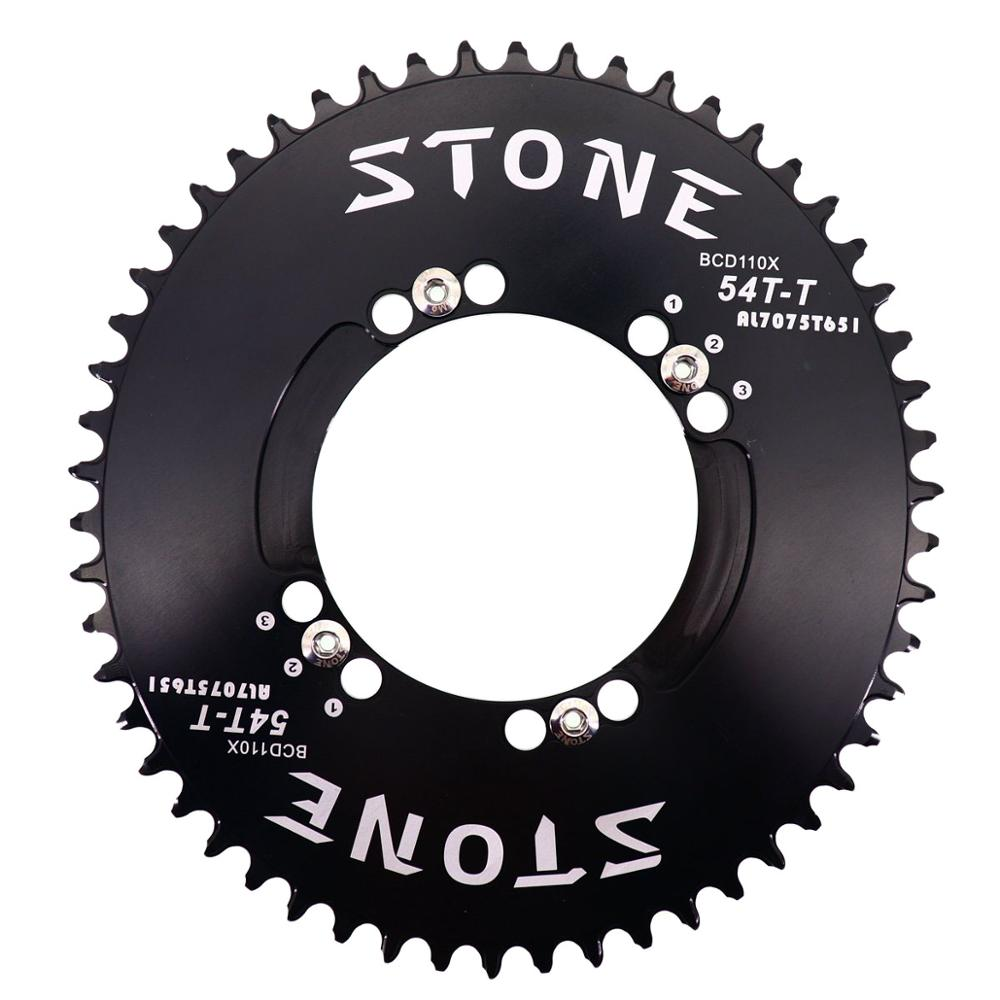 Stone Chainring 110 BCD Oval for Shimano 5800 6800 4700 9000 36t 38 40 42 46 48 50 56 60T Road BikeTooth Plate 110bcd