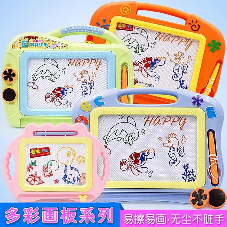 Micro For Children Color Magnetic Drawing Board Plastic Braced Drawing Board Cartoon Graffiti Writing Board Painted Educational