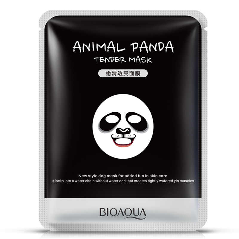 BIOAQUA 1 pcs טיפוח עור כבשים/פנדה/כלב/נמר פנים מסכת לחות חמוד בעלי החיים פנים מסכות