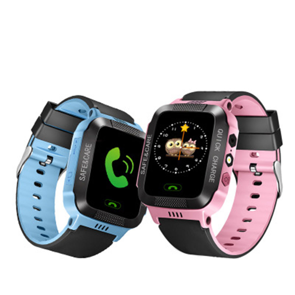 Y21S Children Kids Smart Watch Phone LBS Positioning Tracker SOS Call Safe Anti-lost Monitor Touch Screen Watch Lovely Gift