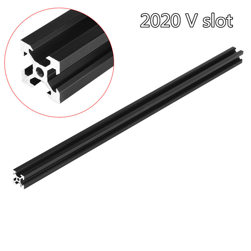 100-1000mm Black 2020 V-Slot Aluminum Profile Extrusion Frame For CNC Laser Engraving Machine Woodworking DIY