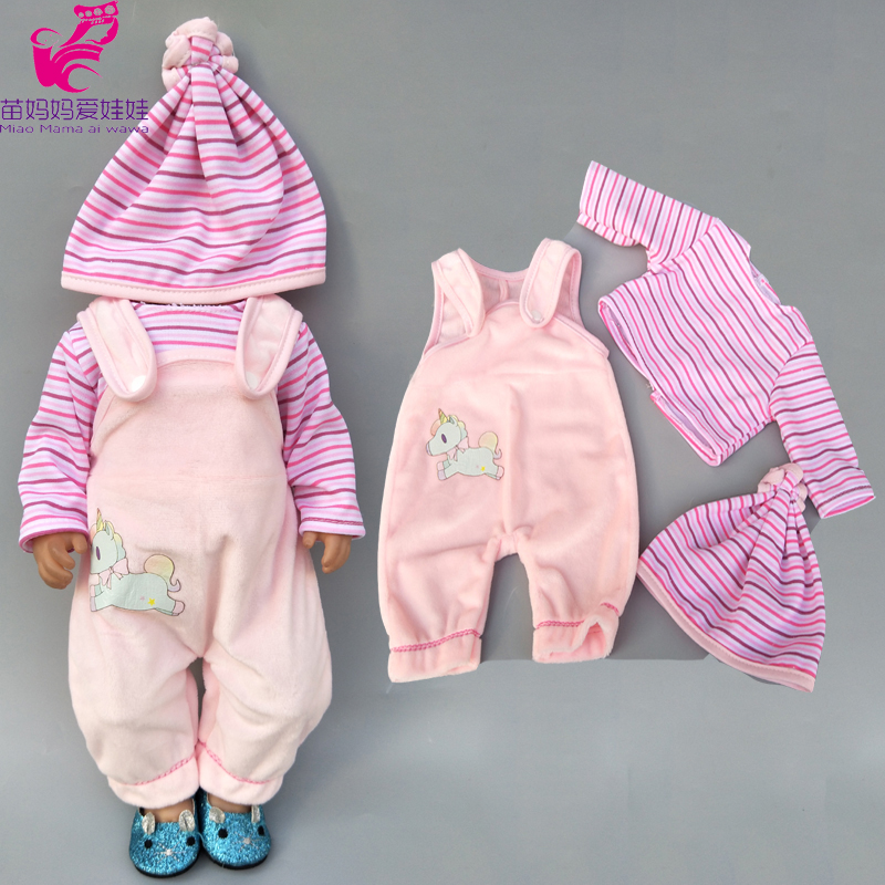 Fit For 43cm Baby Doll Clothes Down Coat And Tight Pants For 18