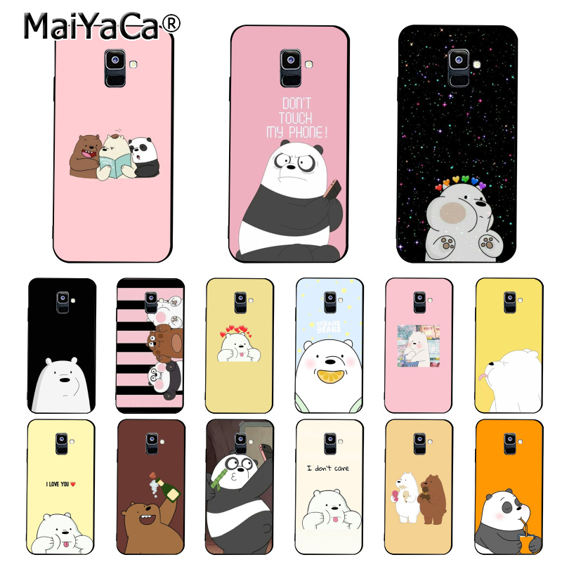MaiYaCa Cartoon Wir bare Bears <font><b>Panda</b></font> Ice bear Telefon Fall Für <font><b>Samsung</b></font> <font><b>Galaxy</b></font> A7 A50 A70 A40 A20 A30 A8 a6 A8 Plus A9 2018 image